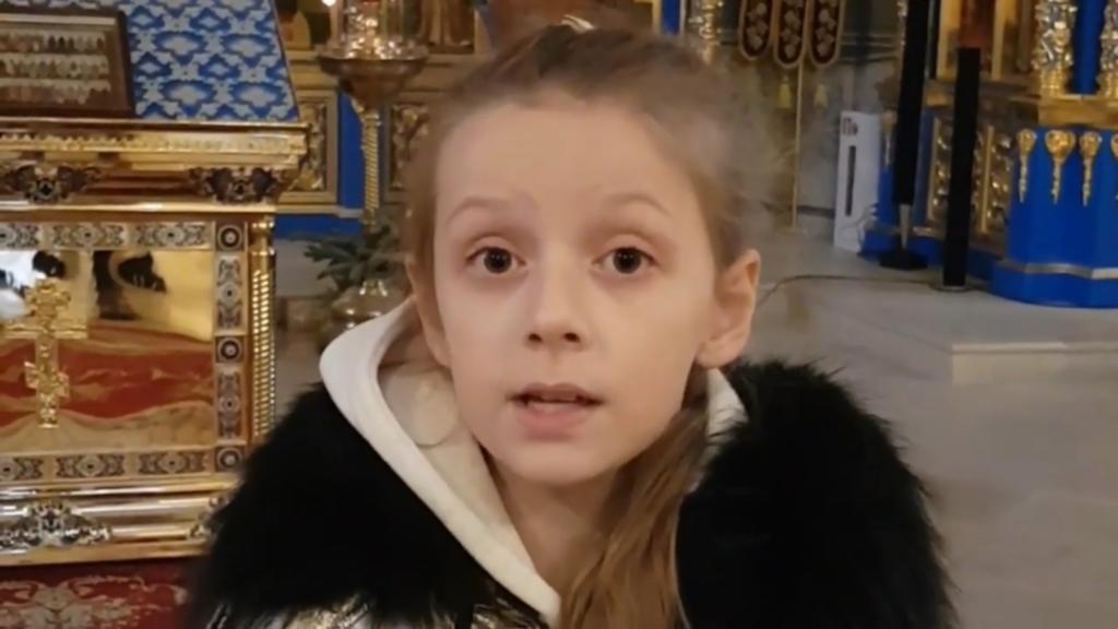 Видеоработа нашей юной прихожанки Арины