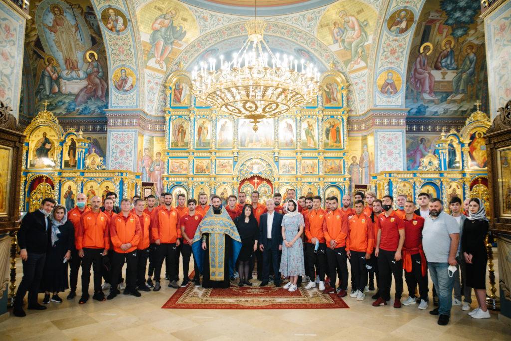 """Гости из клуба """"Алания"""" Владикавказ в нашем храме"""